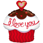 "18"" I Love You Cupcake with Heart Balloon"